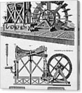 Paddle-driven Beam-engine Suction Pump Canvas Print