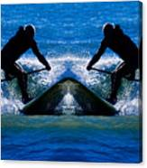 Paddleboarding X 2 Canvas Print