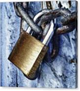 Padlock On A Chain Canvas Print