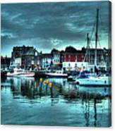 Padstow Harbour At Dusk Canvas Print