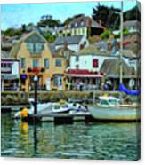 Padstow Harbour Slipway - P4a16023 Canvas Print