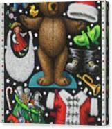 Page 1 Of 2 Teddy Bear Santa Claus Paper Doll Canvas Print