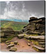 Pagoda #1, Kinder Scout, Peak District, North West England Canvas Print