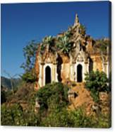 Pagoda In Ruins Canvas Print