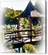 Pagoda Over The Lake Canvas Print
