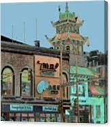 Pagoda Tower Chinatown Chicago Canvas Print