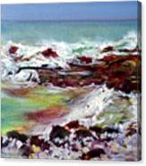 Pahoehoe Winter Surf Canvas Print