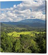 Pai Landscape View, Thailand Canvas Print