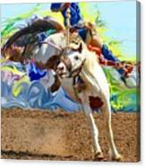 Paint Bucking Horse ... Montana Art Photo Canvas Print