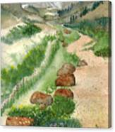 Paintbrush Trail Canvas Print