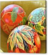 Painted Balls Canvas Print