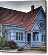 Painted Blue House Canvas Print