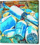 Painted Buoys Canvas Print