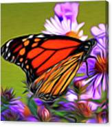 Painted Butterfly Canvas Print