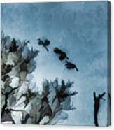 Painted Cranes Canvas Print