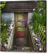 Painted Garden Door Canvas Print