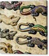 Painted Geckos Canvas Print