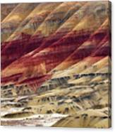 Painted Hills Contour Canvas Print