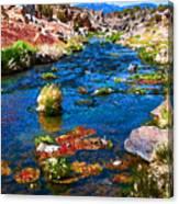 Painted Hot Creek Springs Canvas Print