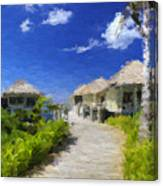 Painted Island Pathway Canvas Print