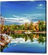 Painted Klondike Autumn Canvas Print