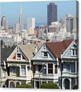 Painted Ladies Of Alamo Square San Francisco California 5d27996v2 Canvas Print