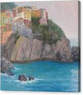 Painted Ladies Of Manarola Canvas Print