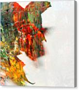 Painted Leaf Abstract 1 Canvas Print