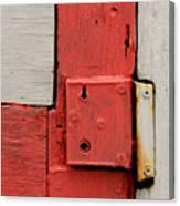 Painted Lock Canvas Print