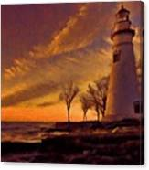 Painted Marblehead Lighthouse Canvas Print
