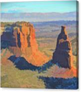 Painted Mesa Canvas Print