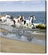 Painted Ocean Canvas Print