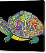 Painted Peace Turtle Too Canvas Print