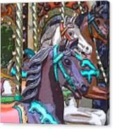 Painted Ponies Canvas Print