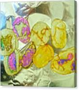 Painted Potato Chips Canvas Print
