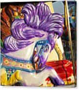 Painted Purple Pony Canvas Print
