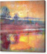 Painted Reflections Canvas Print
