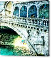Painted Rialto Canvas Print