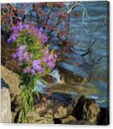 Painted River Flower Canvas Print
