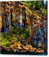 Painted Rock - Flathead Lake Canvas Print