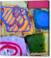 Painted Rocks Canvas Print