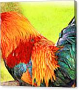 Painted Rooster Canvas Print