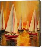 Painted Sails Canvas Print
