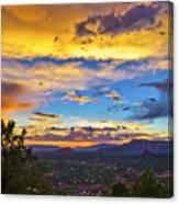 Painted Sky's Over Sedona Canvas Print