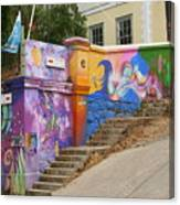 Painted Walls In Valparaiso Canvas Print