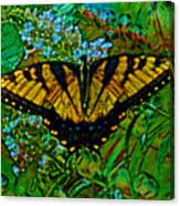 Painted Yellow Swallowtail Canvas Print