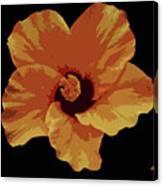 Painter Hibiscus Canvas Print