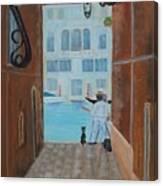 Painter In Venice Canvas Print