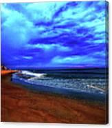 Painterly Beach Scene Canvas Print