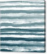 Painterly Beach Stripe 1- Art By Linda Woods Canvas Print